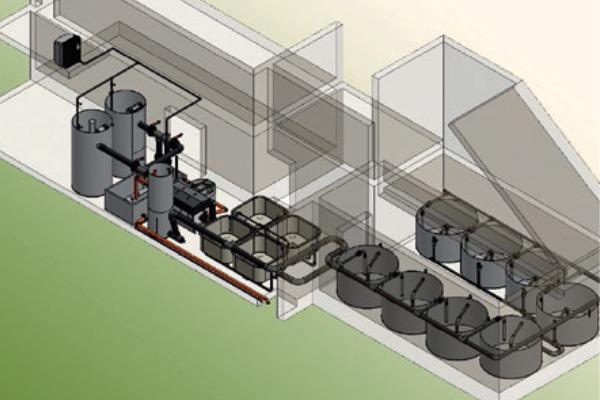 Laboranlage Fischzucht Basis57 in Erstfeld